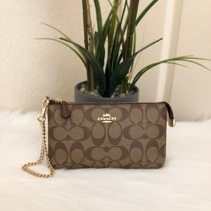 💐COACH Large Wristlet In Signature Canvass